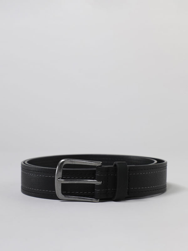 Basic belt with stitching