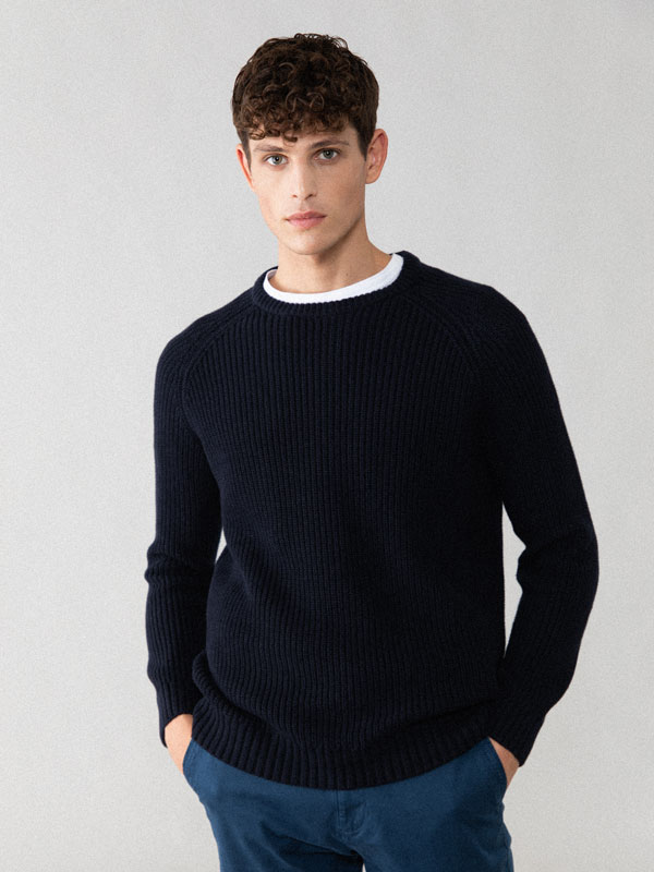 Sweater with a textured weave
