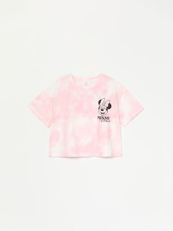 Camiseta cropped tie dye de Minnie ©Disney