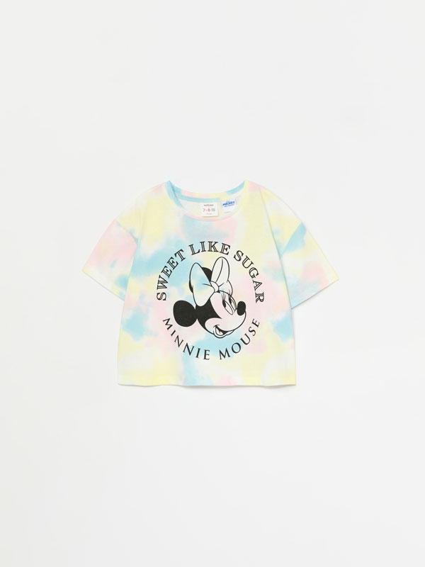 Minnie Mouse ©Disney tie-dye cropped T-shirt