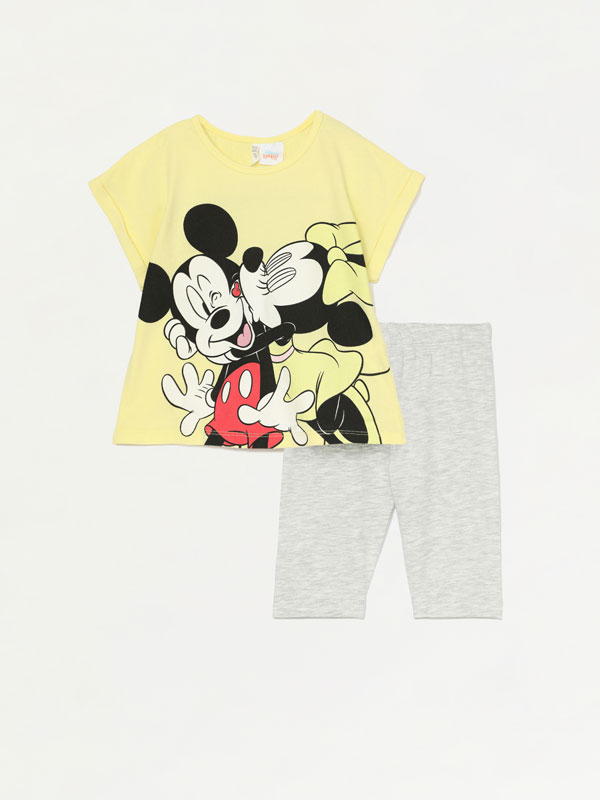 CONJUNTO DE T-SHIRT E LEGGINGS CAPRI MICKEY ©DISNEY