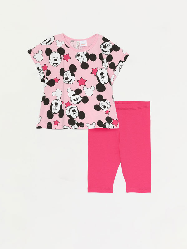 CONJUNTO DE T-SHIRT E LEGGINGS CAPRI DE MINNIE ©DISNEY