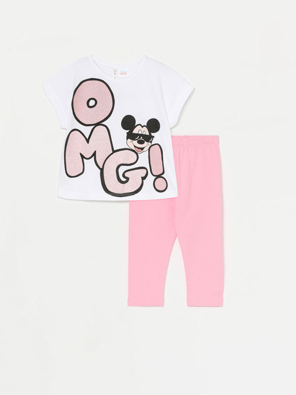 MICKEY ©DISNEY T-SHIRT AND LONG LEGGINGS SET