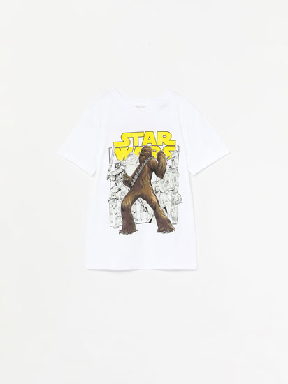 T-SHIRT STAR WARS DE MANGA CURTA