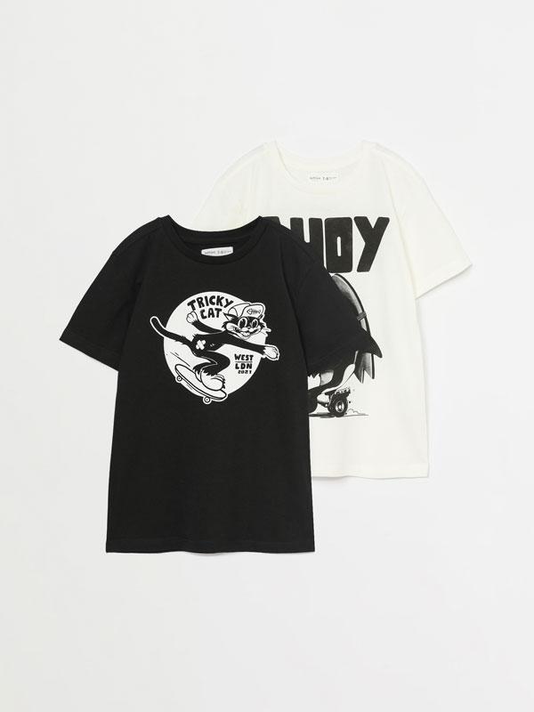 Pack de 2 t-shirts estampadas