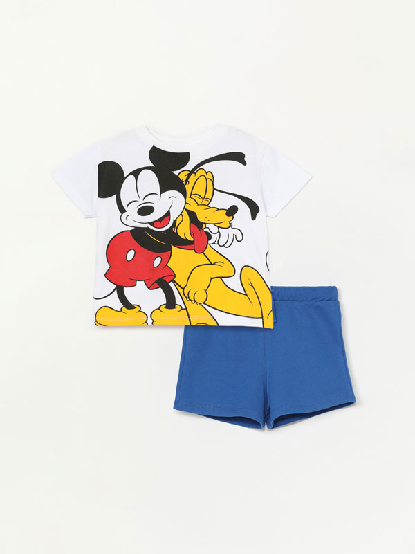 Mickey ©DISNEY matching T-shirt and Bermuda shorts set.
