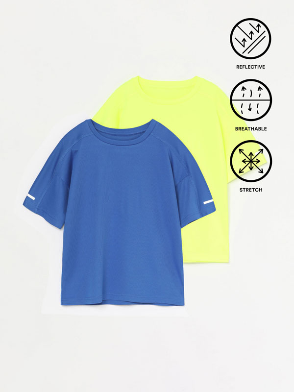 Pack of 2 breathable sports tops