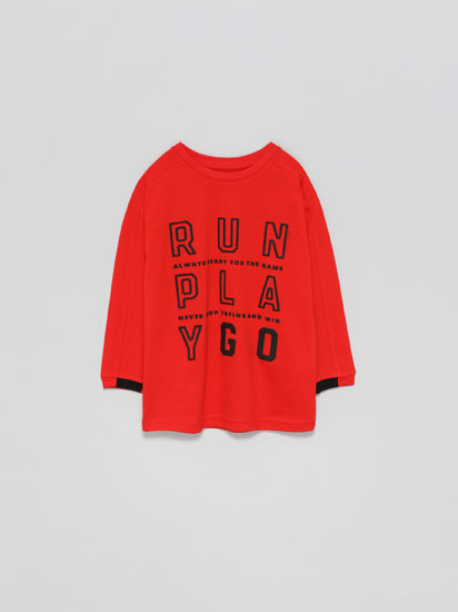 Sports T-shirt with raised print