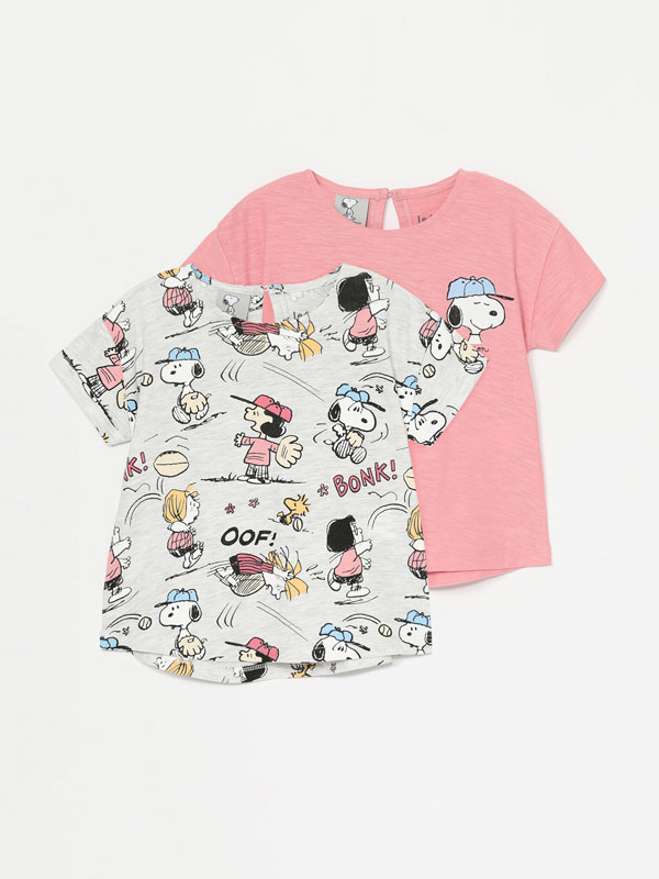 Pack de 2 camisetas de manga corta de Snoopy Peanuts™