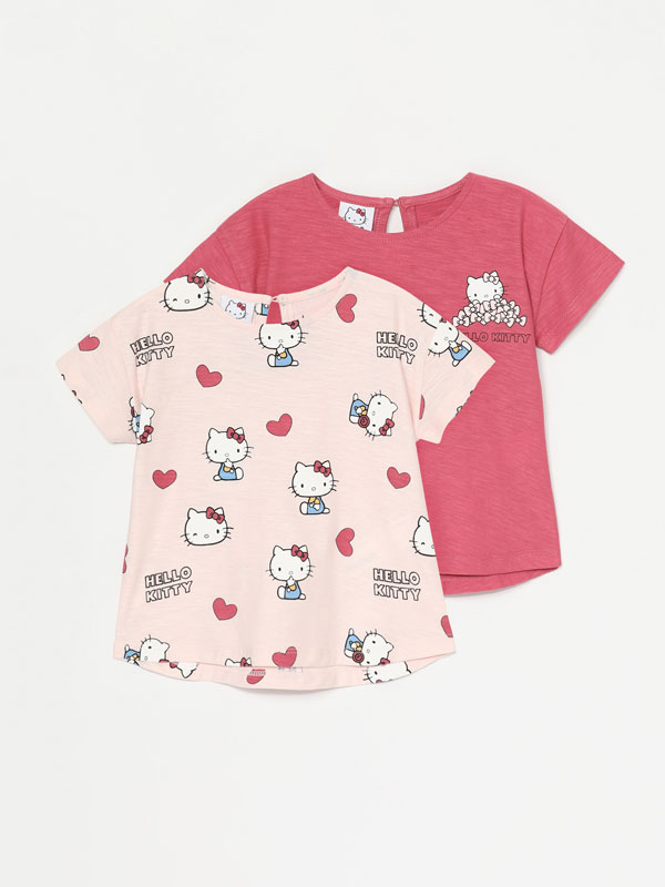 Pack de 2 camisetas de Hello Kitty ©SANRIO