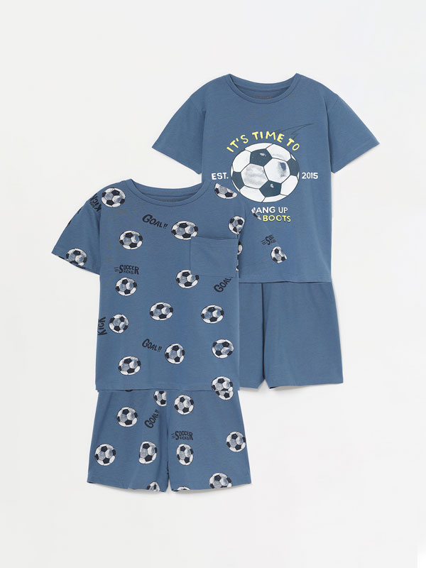 Pack of 2 printed pyjama sets