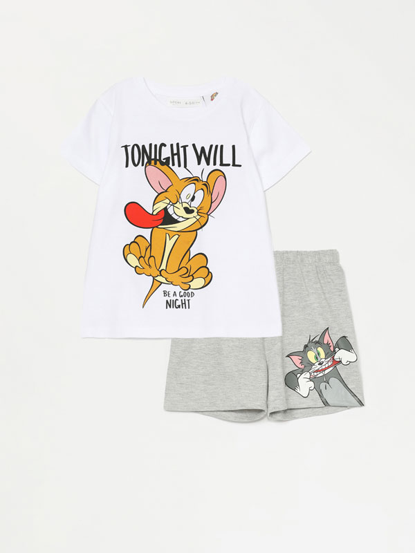 Conjunto de pijama curto de tom & jerry © &™ wbei
