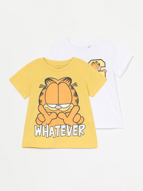 Pack de 2 t-shirts de Garfield ©Nikelodeon