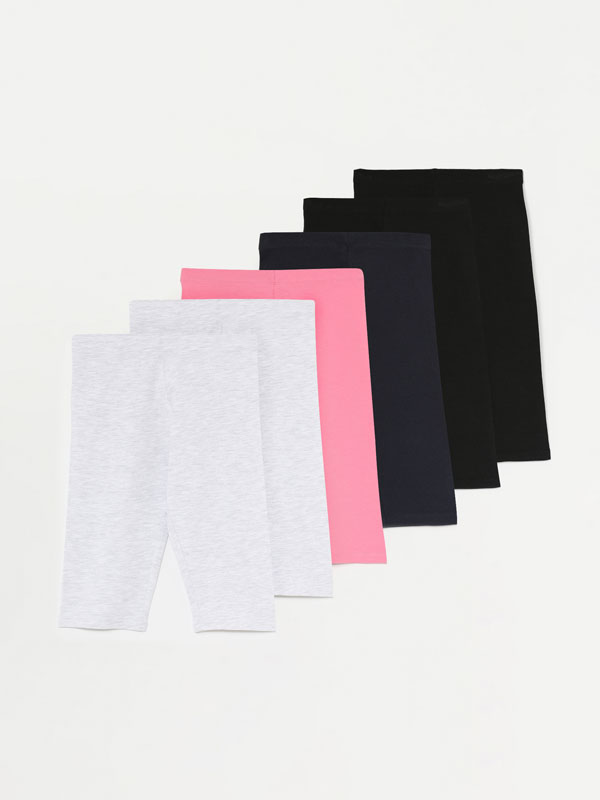 6-Pack of basic capri leggings