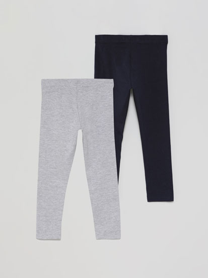 2-Pack of long basic leggings