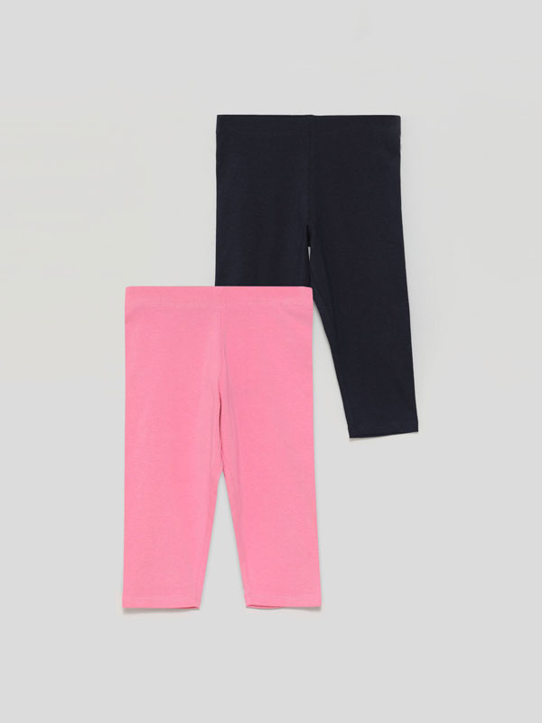 2-Pack of basic capri leggings