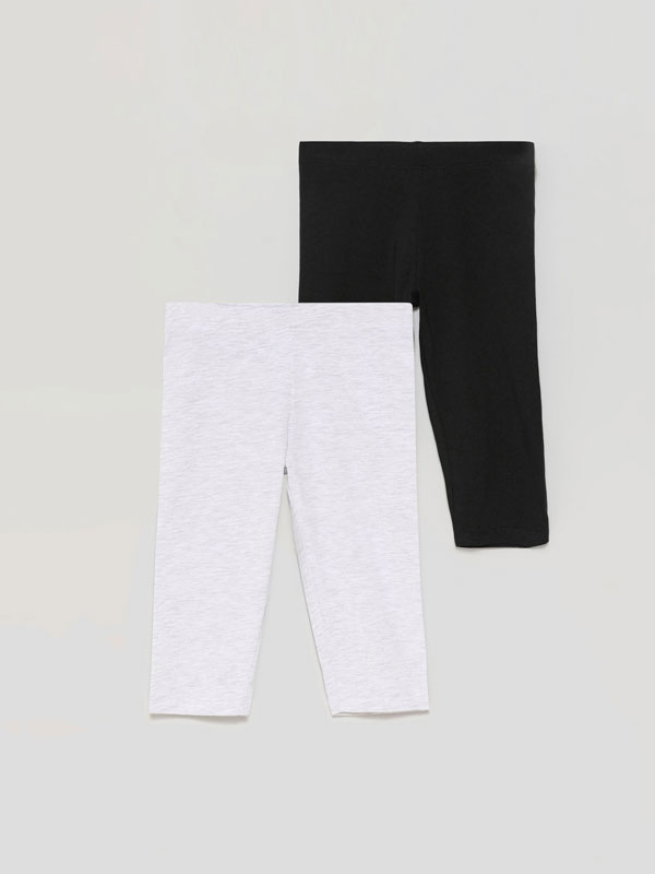 Pack de 2 leggings pirata básicos