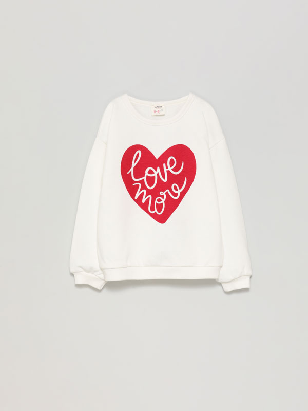 Basic printed sweatshirt