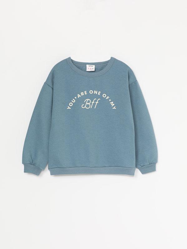 Sweatshirt estampada básica
