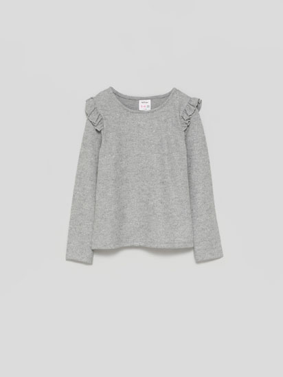 SOFT-TOUCH SWEATER WITH SHINY POLKA DOTS