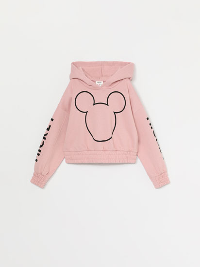 SWEATSHIRT DESPORTIVA CROPPED COM CAPUZ DE MICKEY ©DISNEY