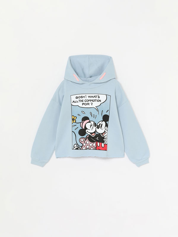 SWEATSHIRT CROPPED DE MINNIE ©DISNEY COM CAPUZ