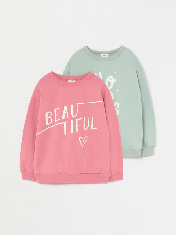 Pack de 2 sweatshirts estampadas