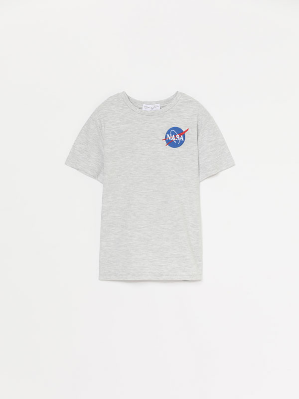 T-shirt da NASA de manga curta