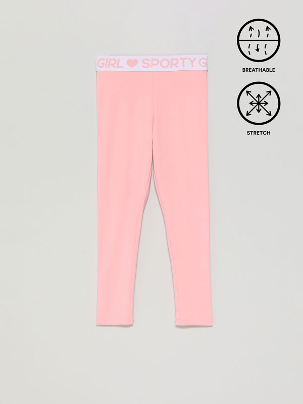 Sports leggings with slogan