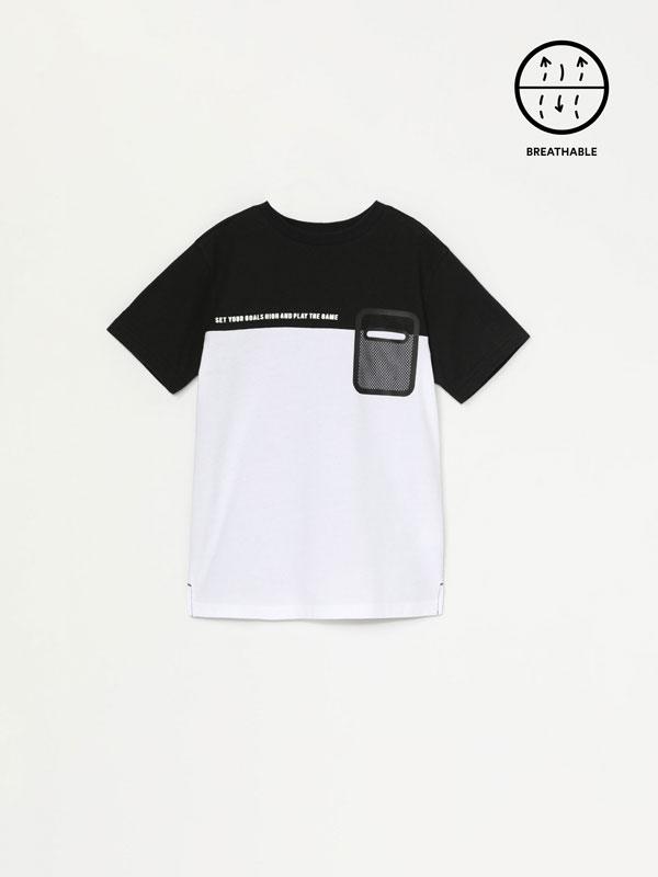 T-shirt oversize com estampado de mensagem