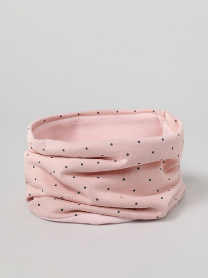 Snood with a polka dot print