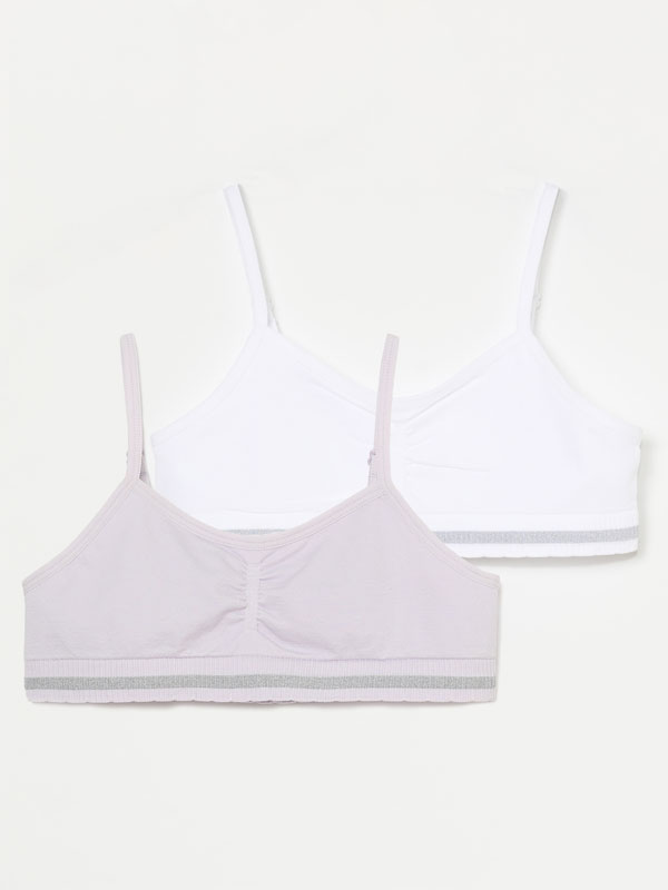 PACK OF 2 SEAMLESS TOPS