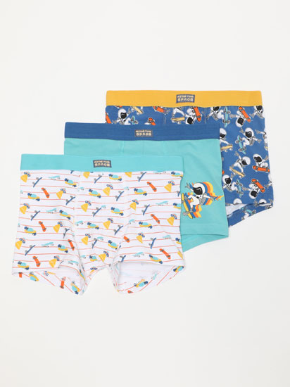 PACK OF 3 PAIRS OF BOXER SHORTS WITH A SKATER PRINT