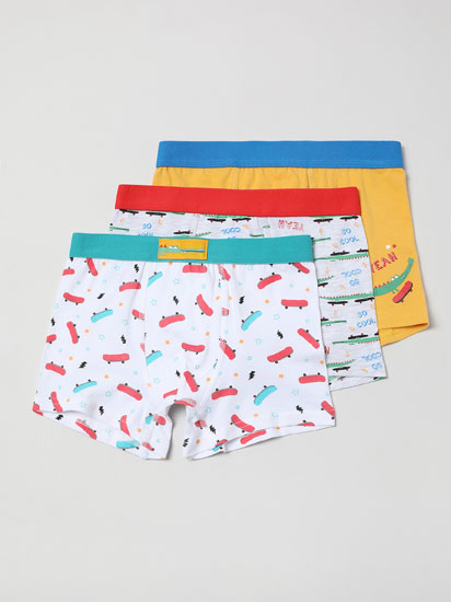 PACK OF 3 PAIRS OF BOXER SHORTS WITH A CROCODILE SKATER PRINT