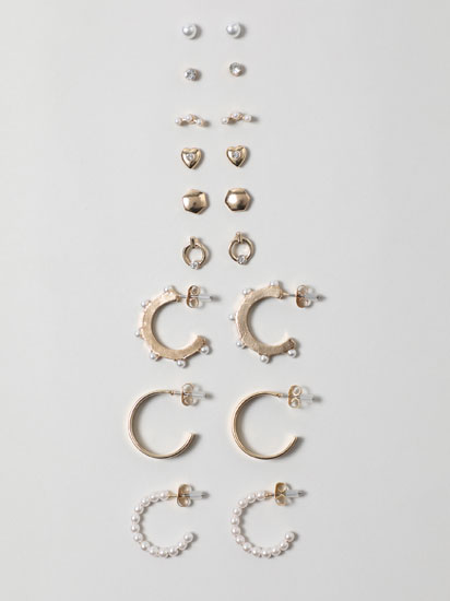 9-Pack of assorted earrings