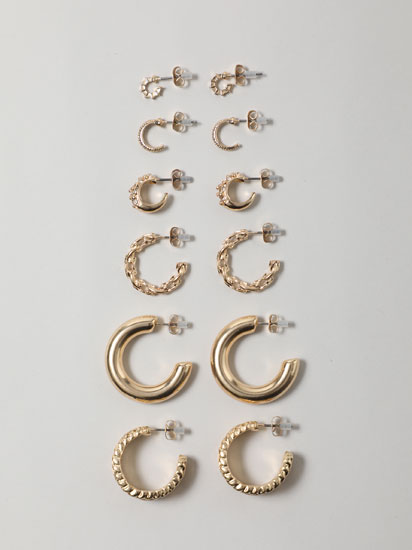 6-Pack of assorted earrings