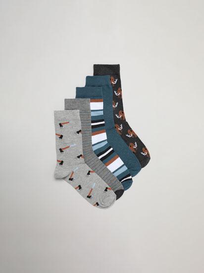 Pack de 5 pares de calcetines caza