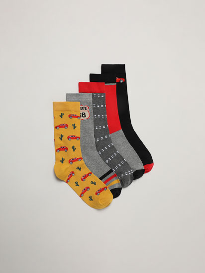 Pack de 5 pares de calcetíns Ruta 66