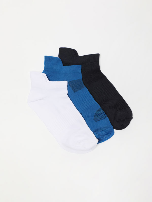 Pack of 3 pairs of sporty ankle socks