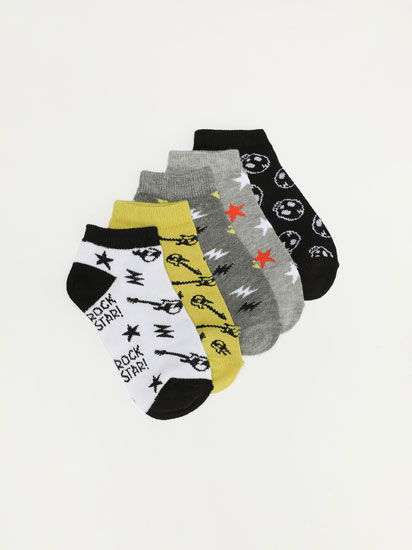 PACK OF 5 ROCK STAR ANKLE SOCKS