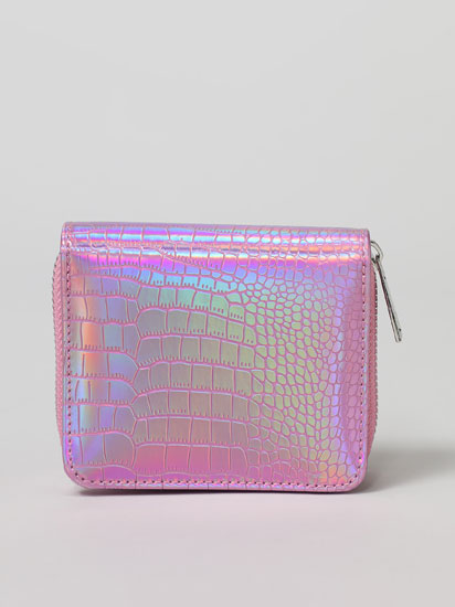 Iridescent faux leather purse.