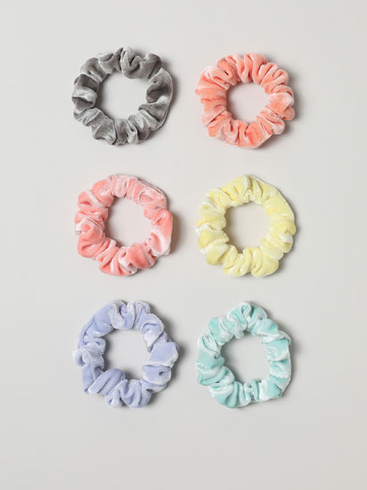 6-Pack of velvet scrunchies