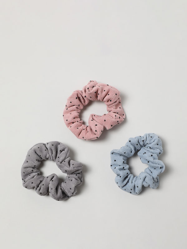 Pack of 3 corduroy scrunchies