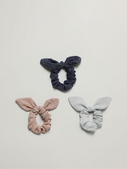 PACK OF 3 SPSHINY ARKLY SCRUNCHIES WITH EARS