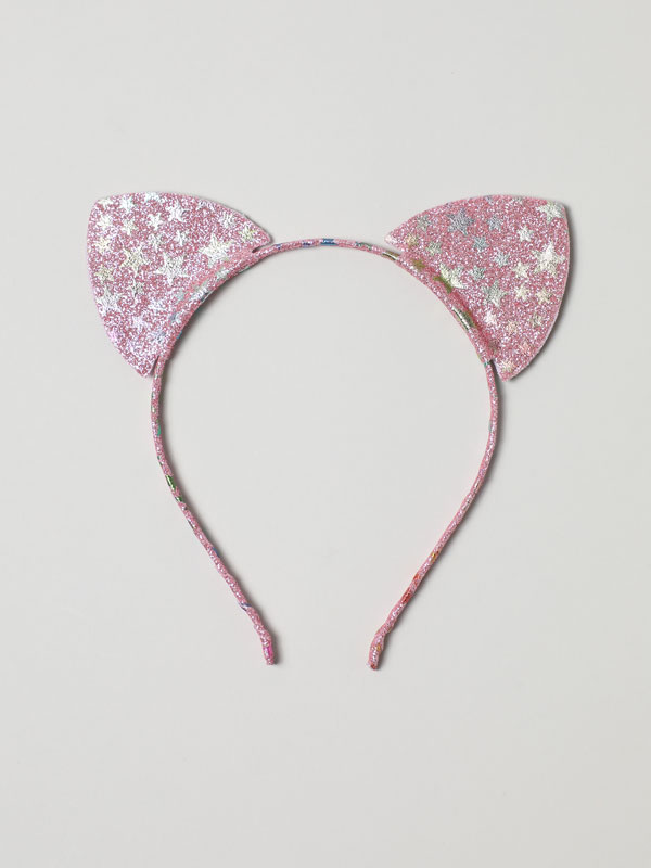 SHINY HEADBAND WITH EARS AND STARS