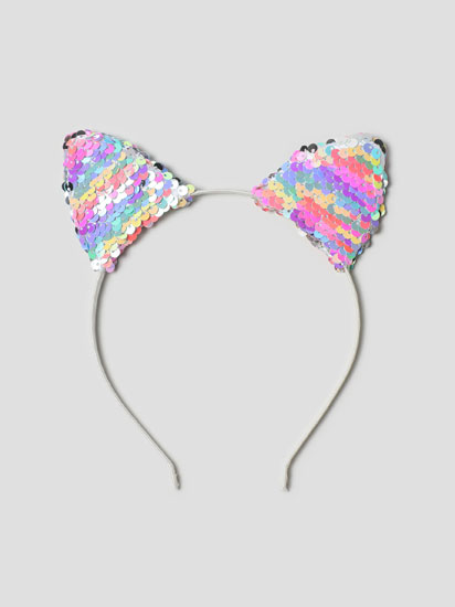 EARS HEADBAND WITH SEQUINS