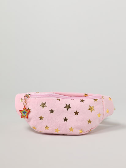 Soft-touch belt bag with stars