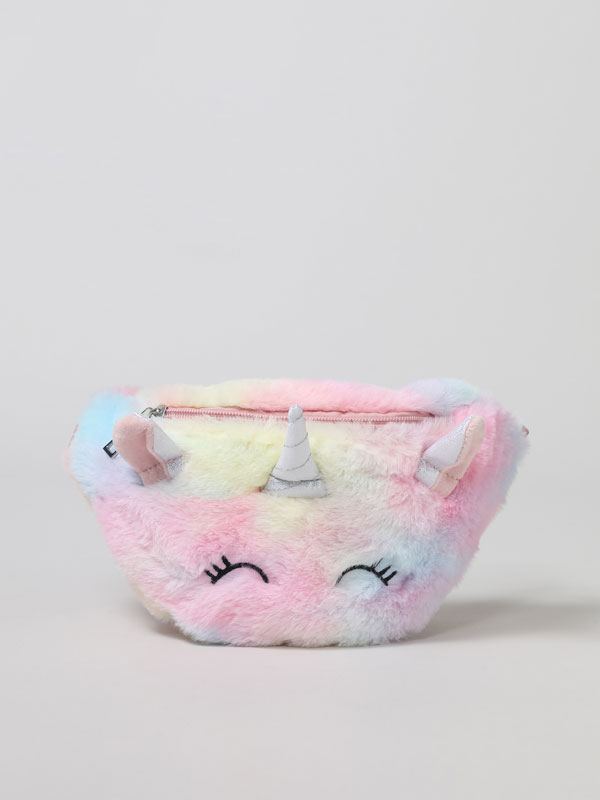 Multicoloured unicorn belt bag