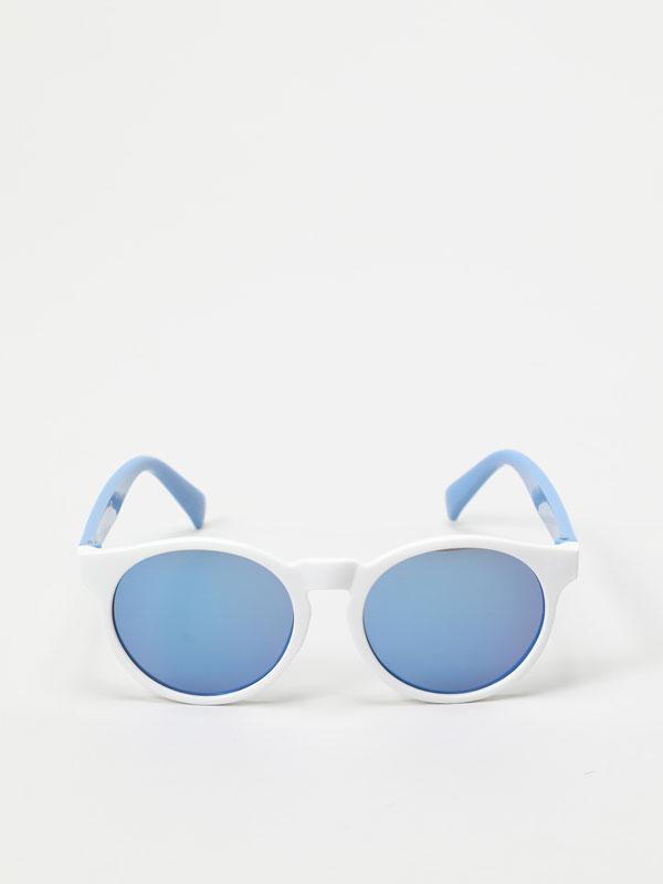 Óculos de dois tons
