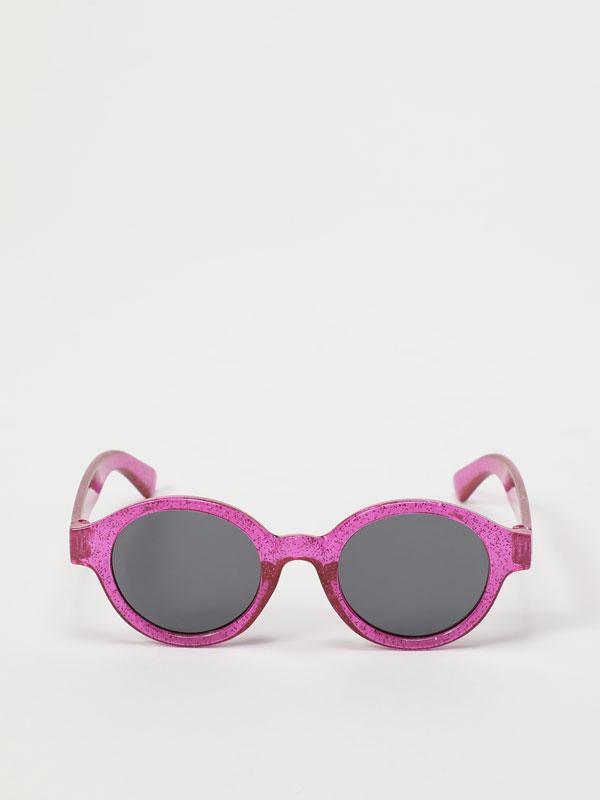 Gafas con purpurina